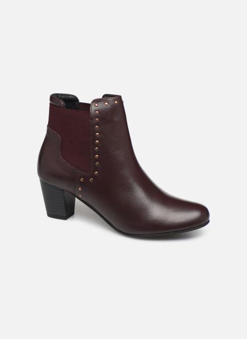 Ankle boots Pédiconfort Flora C Burgundy detailed view/ Pair view
