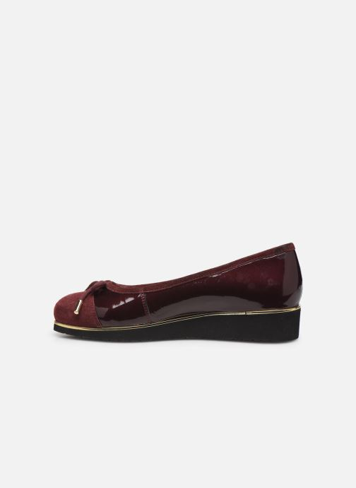 Ballet pumps Pédiconfort Mounia C Burgundy front view