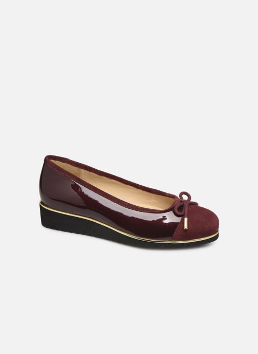 Ballet pumps Pédiconfort Mounia C Burgundy detailed view/ Pair view