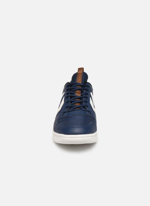 Sneaker Hummel Power Play Sock blau schuhe getragen