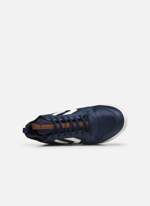 Deportivas Hummel Power Play Sock Azul vista lateral izquierda