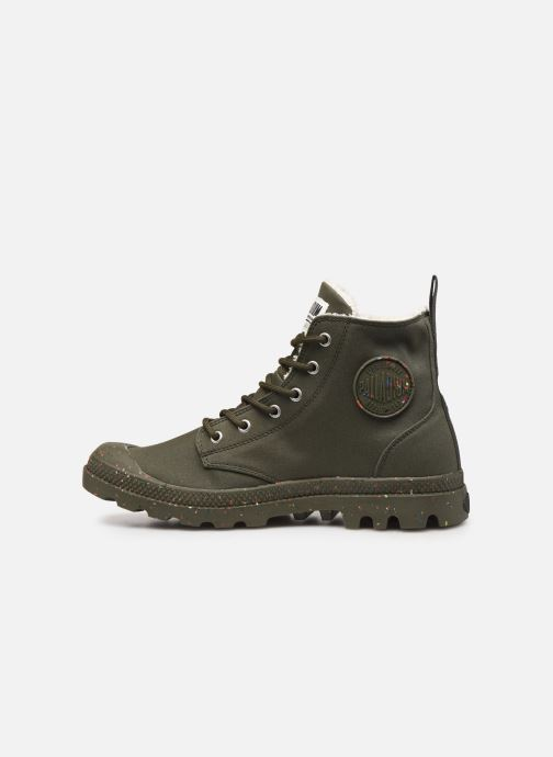 Trainers Palladium Pampa Earth Green front view