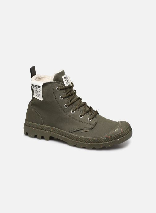 Trainers Palladium Pampa Earth Green detailed view/ Pair view