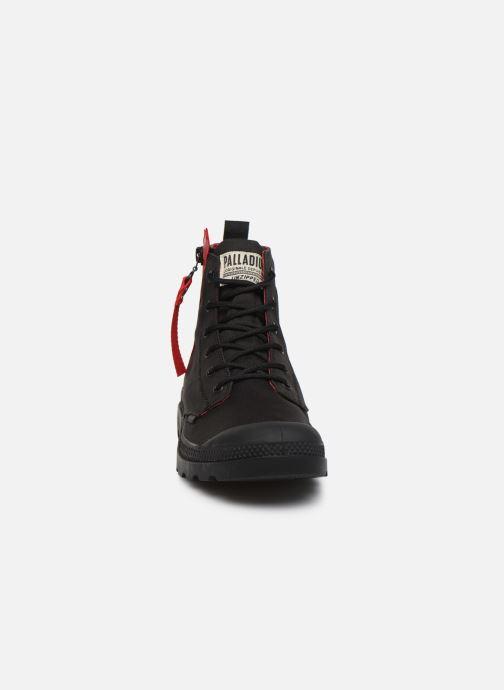 Baskets Palladium Pampa Unzipped Noir vue portées chaussures