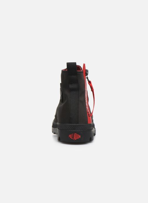 Trainers Palladium Pampa Unzipped Black view from the right