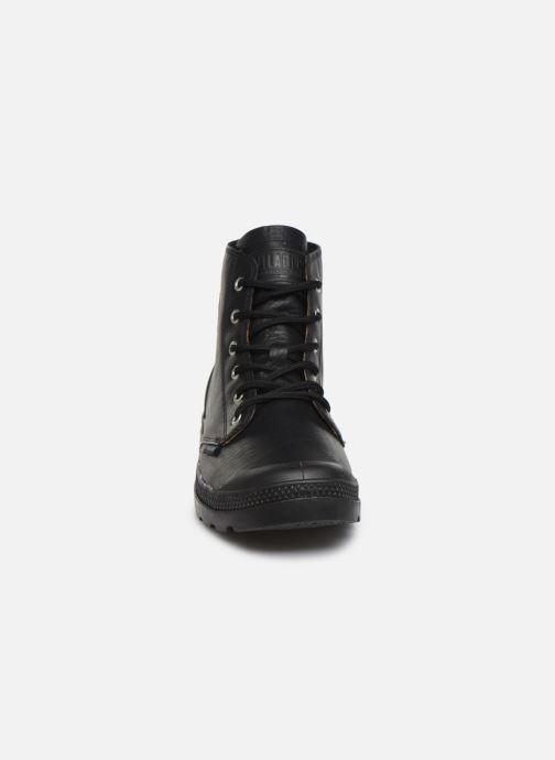 Bottines et boots Palladium Pampa Hi LTH UL Noir vue portées chaussures