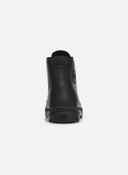 Bottines et boots Palladium Pampa Hi LTH UL Noir vue droite