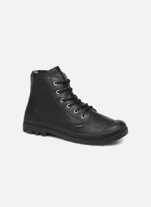 Ankle boots Palladium Pampa Hi LTH UL Black detailed view/ Pair view