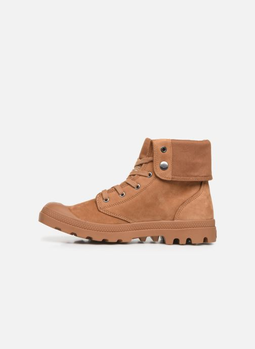 Trainers Palladium Pampa Baggy NBK Brown front view