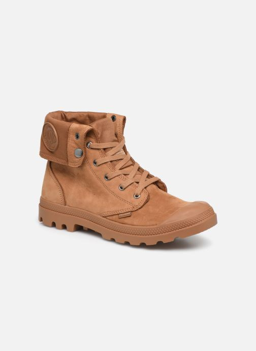 Trainers Palladium Pampa Baggy NBK Brown detailed view/ Pair view