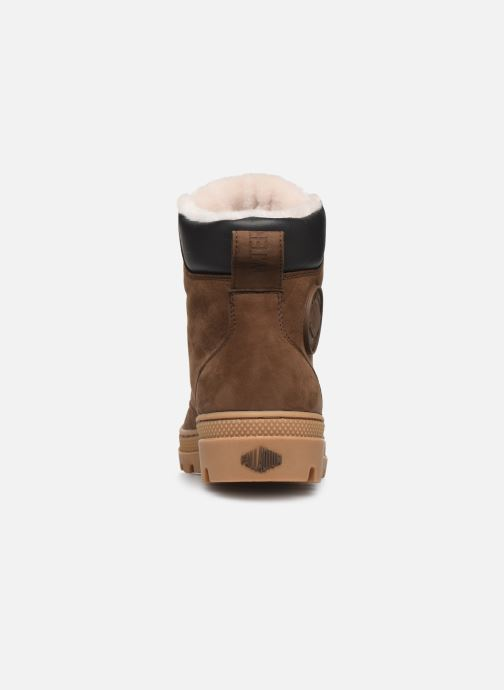 Ankle boots Palladium Pallabosse SC WPS Brown view from the right