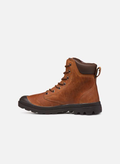 Bottines et boots Palladium Pampa Cuff WP Lux Marron vue face