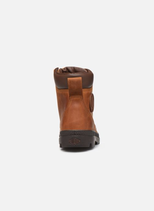 Bottines et boots Palladium Pampa Cuff WP Lux Marron vue droite