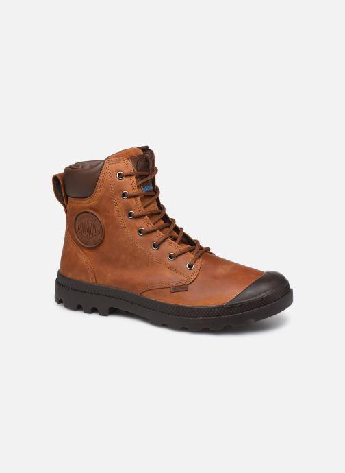 Bottines et boots Palladium Pampa Cuff WP Lux Marron vue détail/paire