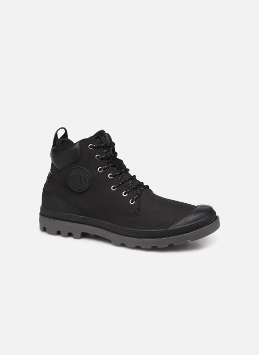 Ankle boots Palladium Pampa SC Outsider WP+ Black detailed view/ Pair view