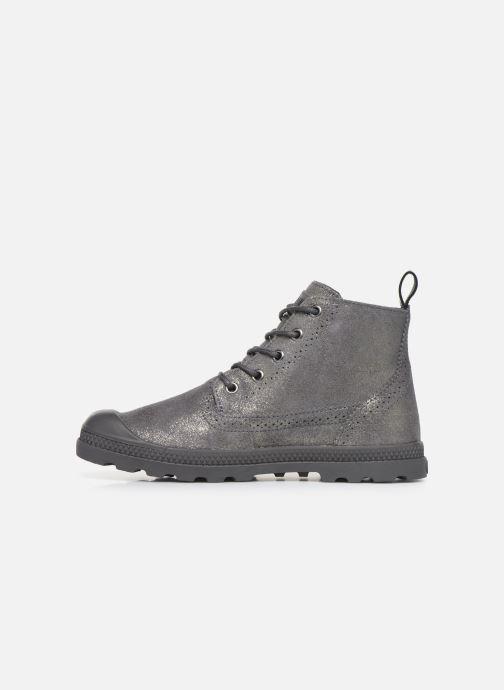Bottines et boots Palladium Pampa LDN LP MID MTL Gris vue face