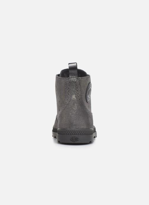 Bottines et boots Palladium Pampa LDN LP MID MTL Gris vue droite