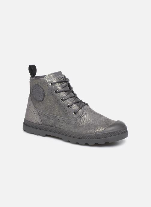 Bottines et boots Palladium Pampa LDN LP MID MTL Gris vue détail/paire