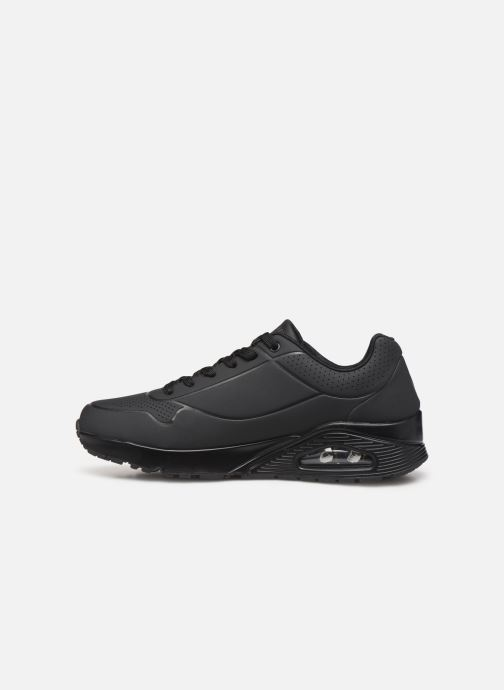 Chaussures de sport Skechers Uno Stand On Air Noir vue face
