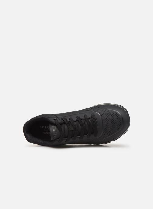 Chaussures de sport Skechers Uno Stand On Air Noir vue gauche