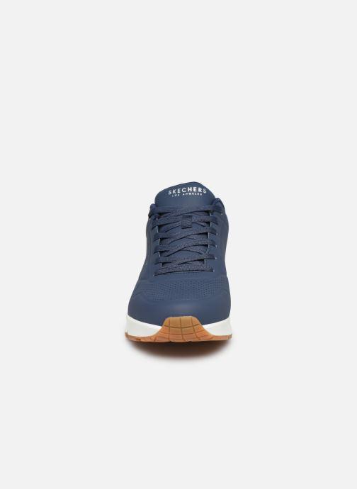 Chaussures de sport Skechers Uno Stand On Air Bleu vue portées chaussures