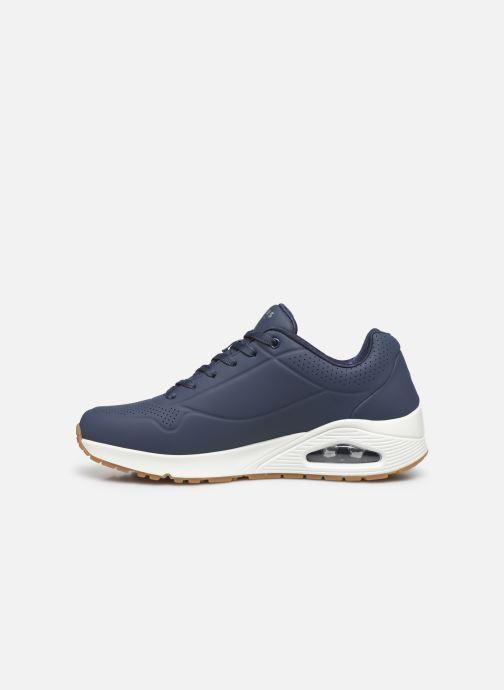 Chaussures de sport Skechers Uno Stand On Air Bleu vue face