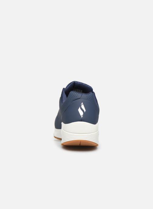 Chaussures de sport Skechers Uno Stand On Air Bleu vue droite