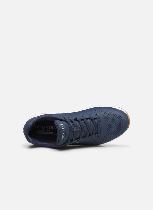 Chaussures de sport Skechers Uno Stand On Air Bleu vue gauche