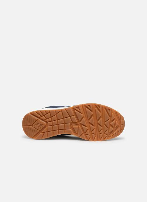 Chaussures de sport Skechers Uno Stand On Air Bleu vue haut