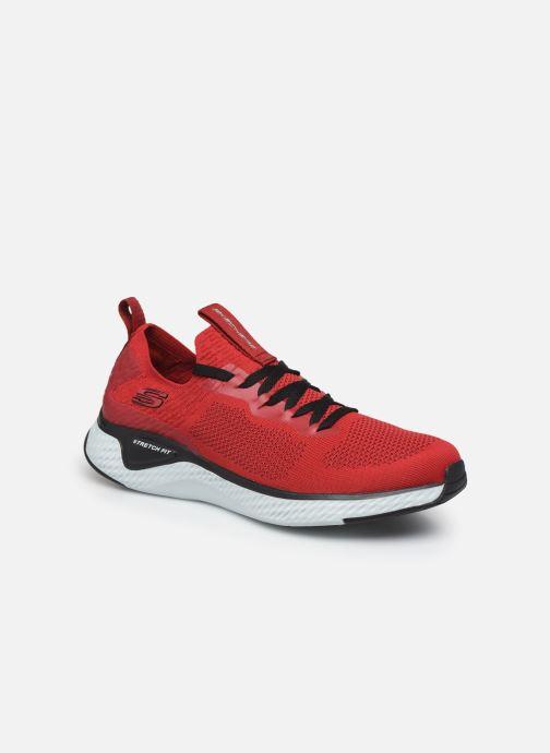 Chaussures de sport Skechers Solar Fuse Rouge vue détail/paire