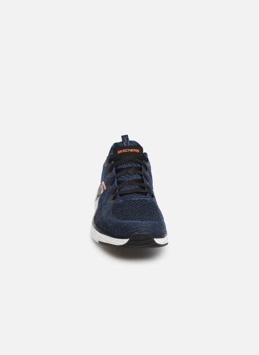 Chaussures de sport Skechers Solar Fuse Kryzik Bleu vue portées chaussures