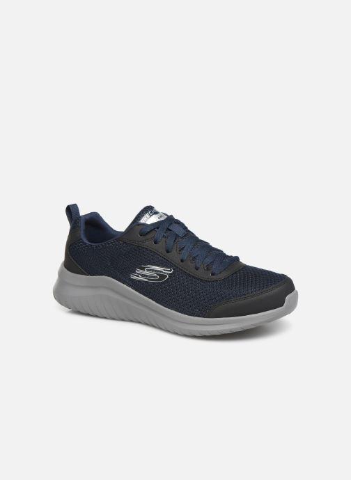 Sportssko Skechers Ultra Flex M Blå detaljeret billede af skoene