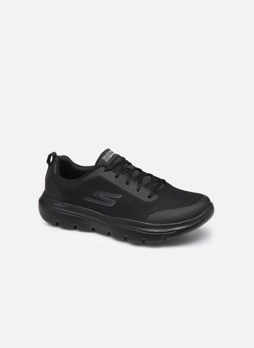 Sportssko Skechers Go Walk Evolution Ultra Canyon Sort detaljeret billede af skoene