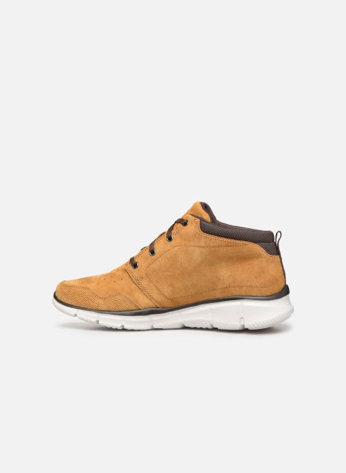 Trainers Skechers Equalizer Mander Brown front view