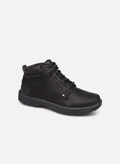Ankle boots Skechers Segment Garnet Black detailed view/ Pair view