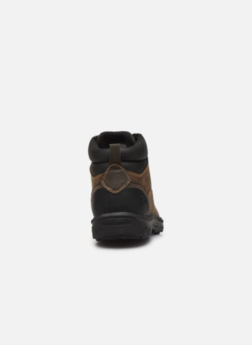 Ankle boots Skechers Segment Garnet Brown view from the right