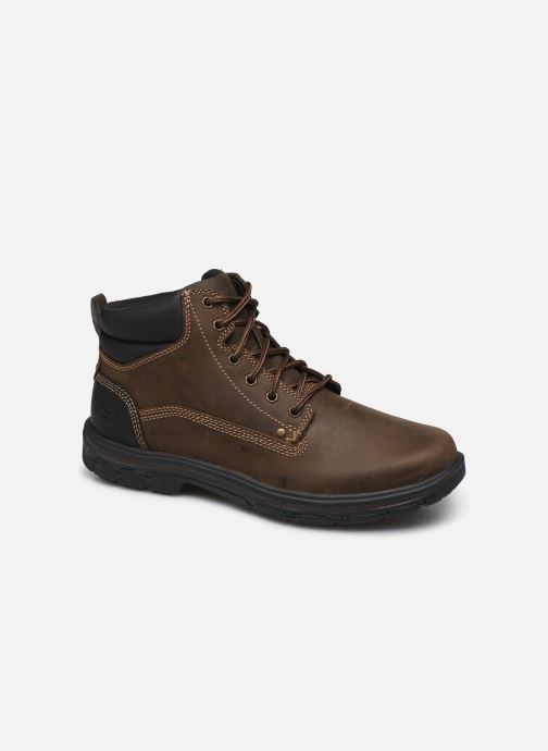 Ankle boots Skechers Segment Garnet Brown detailed view/ Pair view