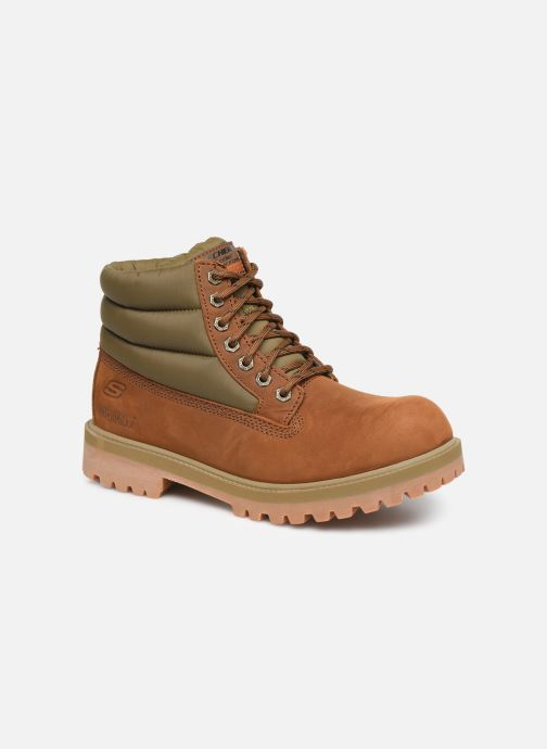 Ankle boots Skechers Sergeants Verno Brown detailed view/ Pair view