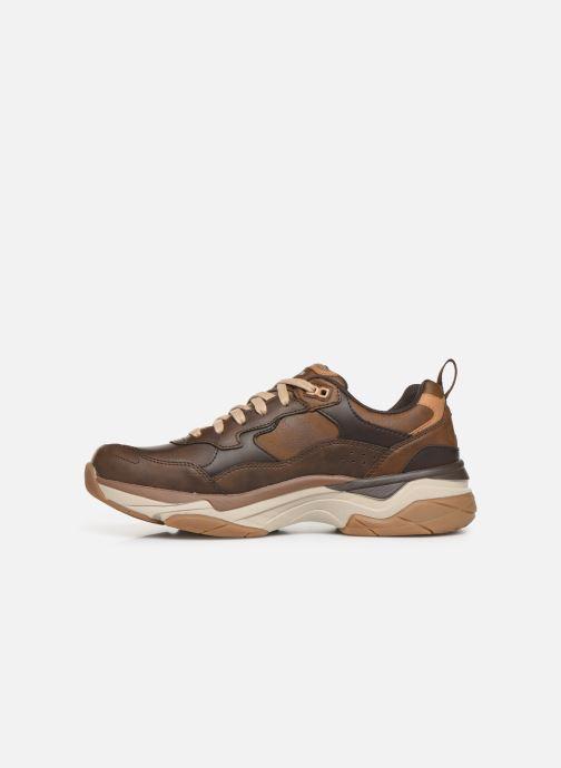 Sneaker Skechers Staxed Brandin braun ansicht von vorne
