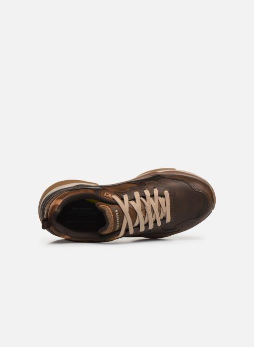 Sneaker Skechers Staxed Brandin braun ansicht von links