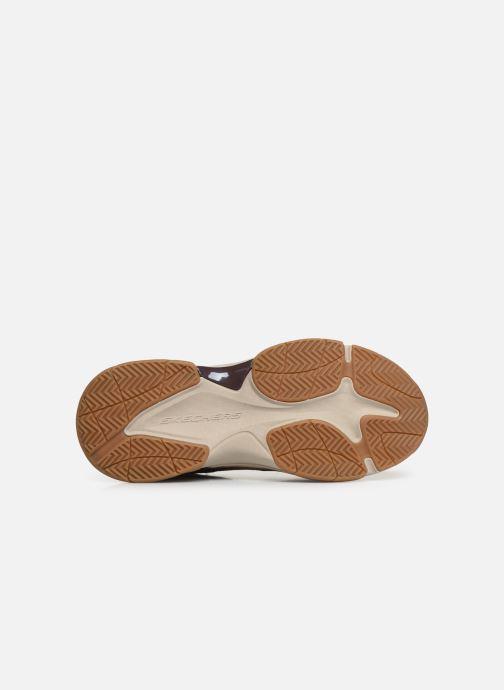 Sneaker Skechers Staxed Brandin braun ansicht von oben