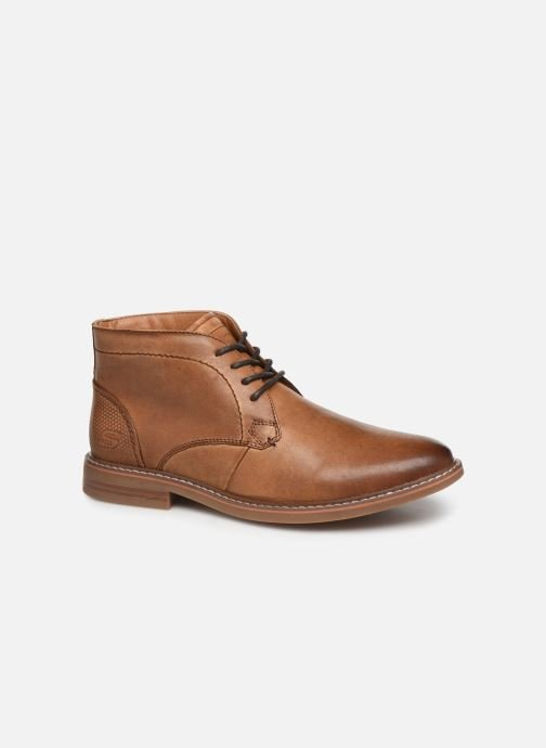 Snøresko Skechers Bregman Calsen Brun detaljeret billede af skoene