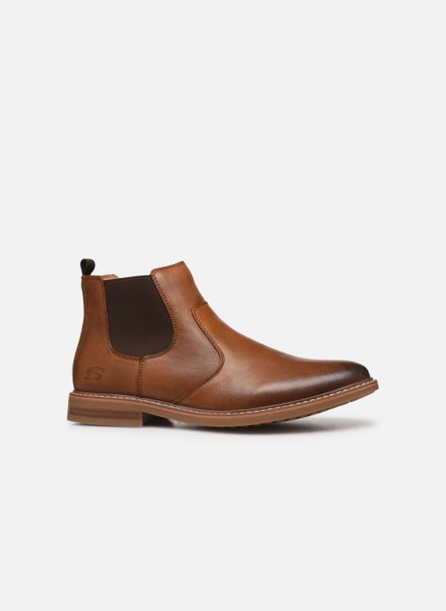Ankle boots Skechers Bregman Morago Brown back view