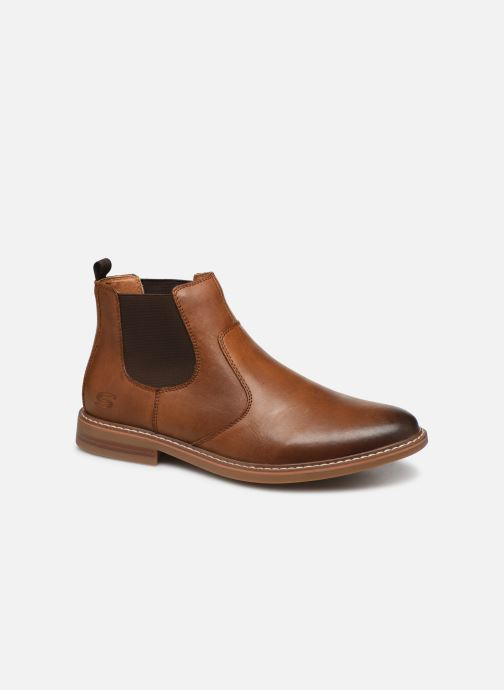 Ankle boots Skechers Bregman Morago Brown detailed view/ Pair view