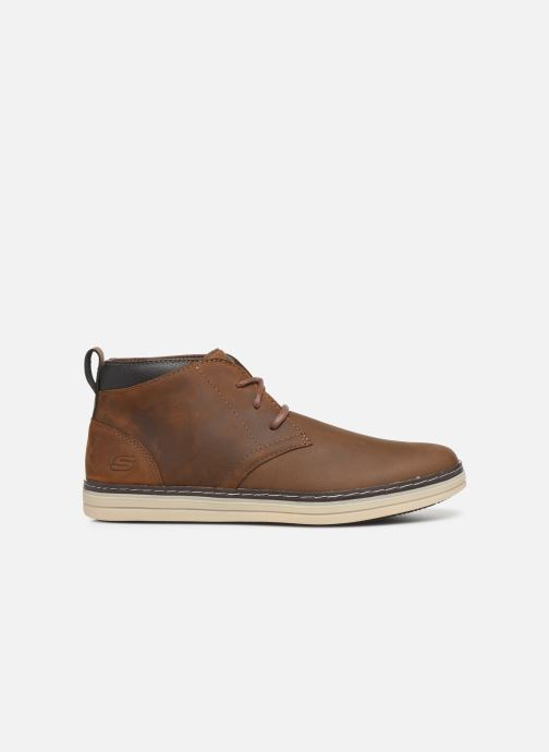 Ankle boots Skechers Heston Regano Brown back view