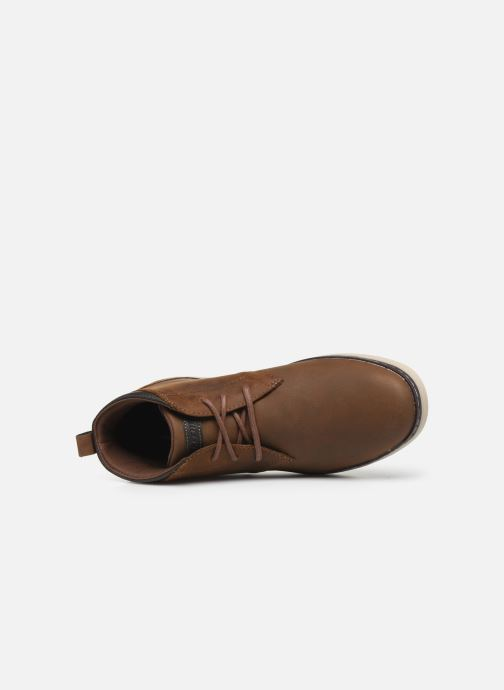 Ankle boots Skechers Heston Regano Brown view from the left