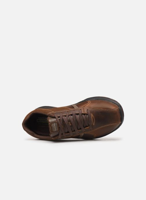 Trainers Skechers Expected 2.0 Belfair Brown view from the left