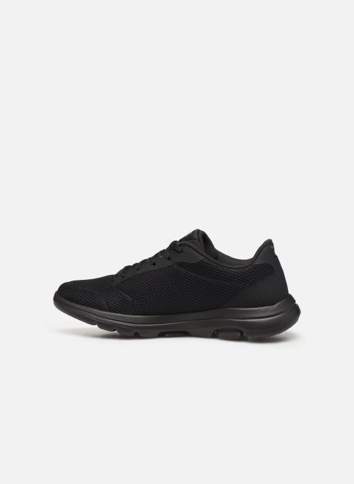 Sport shoes Skechers Go Walk 5 Lucky Black front view