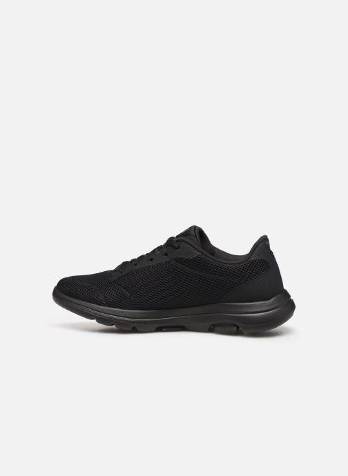 Chaussures de sport Skechers Go Walk 5 Lucky Noir vue face