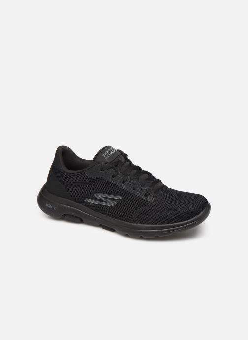 Sportssko Skechers Go Walk 5 Lucky Sort detaljeret billede af skoene